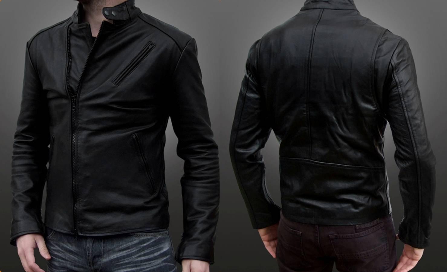 jual jaket semi kulit sintetis murah