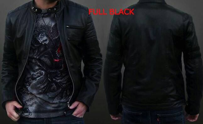 jaket semi kuilt wolverine full hitam black