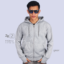 Jaket Zipper Hoodie Grey ZR2-MALE