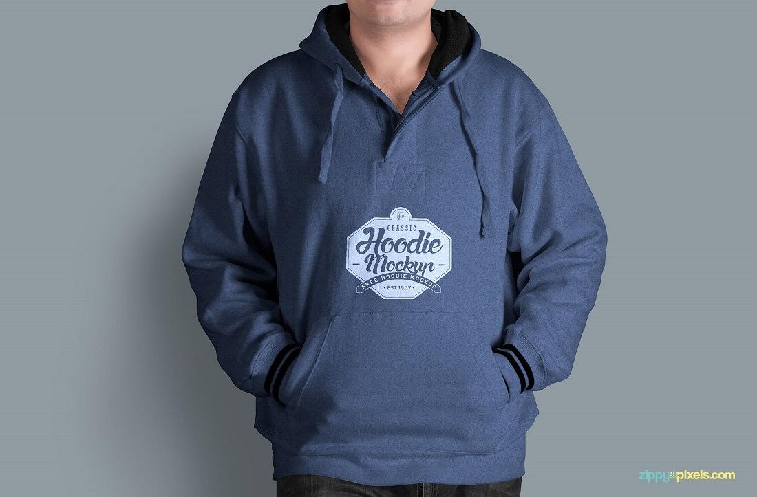 Desain Mockup Jaket Hoodie 1