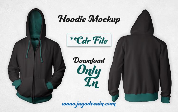 Desain Mockup Jaket Hoodie Front & Back CDR Gratis