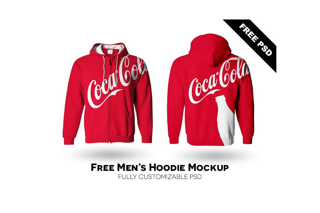 jaket laki-laki hoodie mockup gratis psd