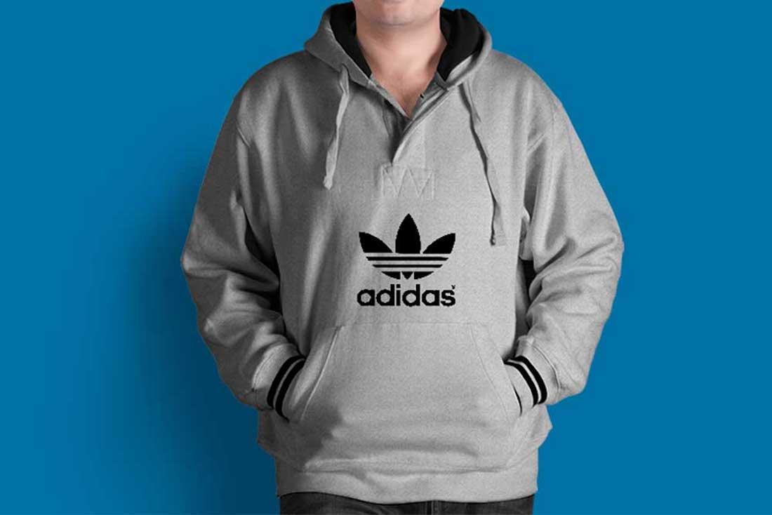 Desain Mockup Jaket Hoodie PSD Gratis Adidas