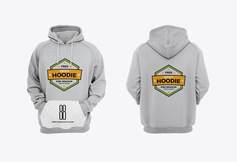 Desain Mockup Jaket Hoodie PSD Gratis Depan Belakang