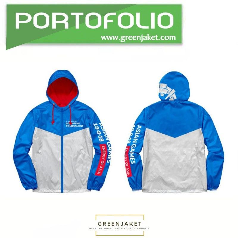 Jaket Parasut Asian Games Blue