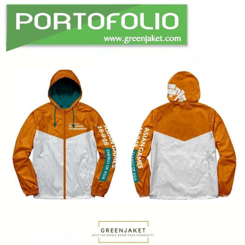 Jaket Parasut Asian Games Orange